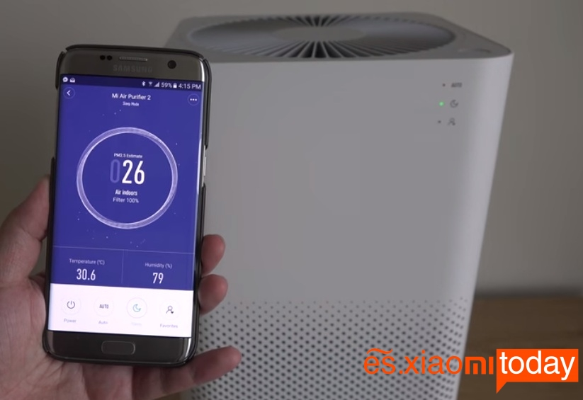 Xiaomi Mi Air Purifier 2 sincronización