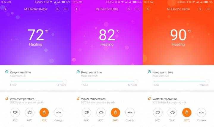 Xiaomi Mi Electric Kettle control de temperatura