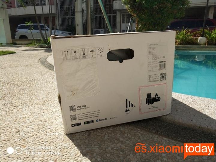 Xiaomi Ninebot Plus caja parte posterior