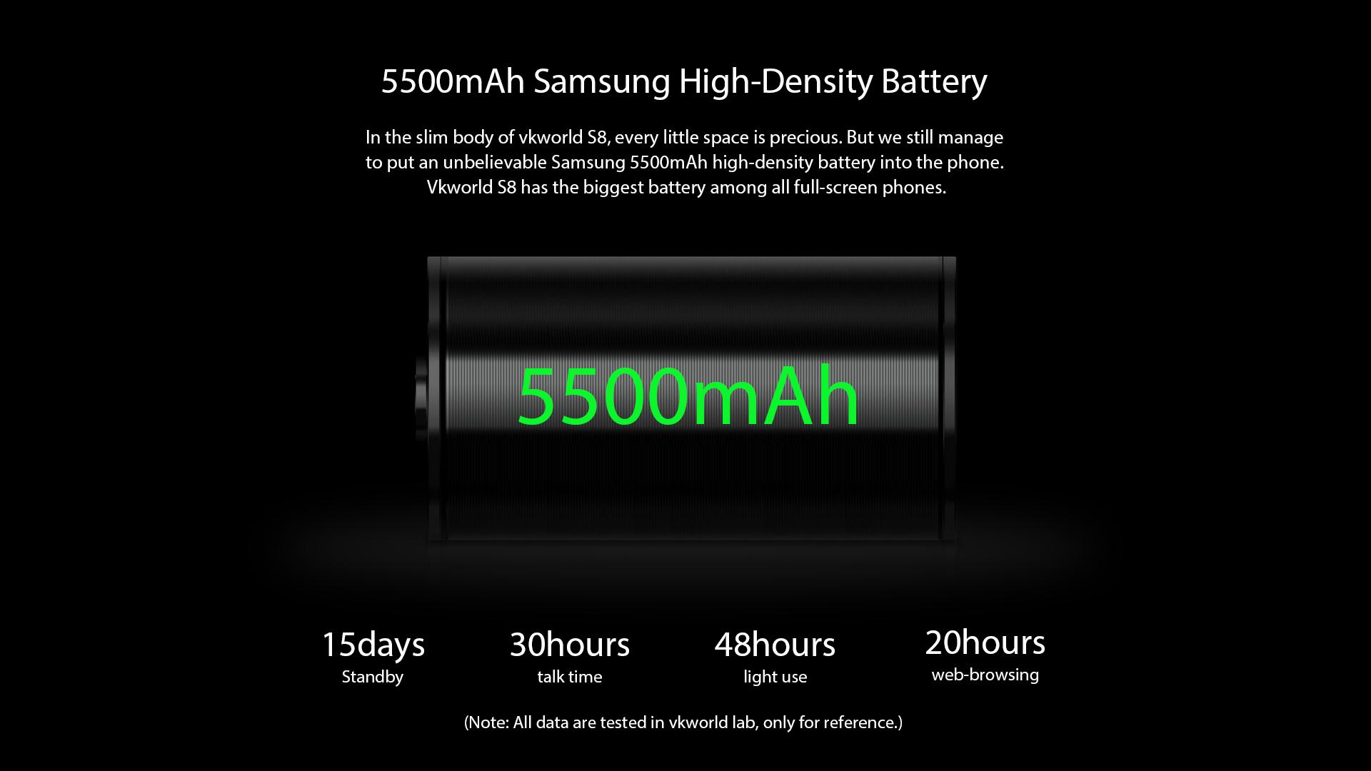 VKworld S8 batería