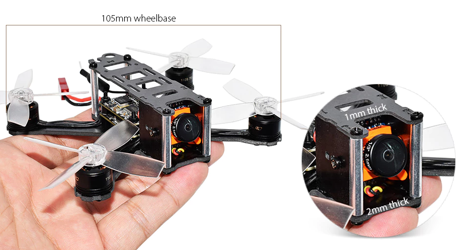 Diseño del QAV105mm FPV Racing Drone