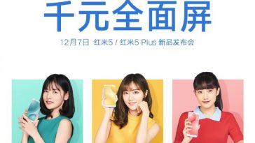 Lanzamiento Xiaomi Redmi 5 y 5 Plus