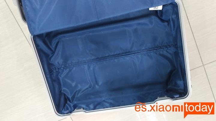 Xiaomi 20 inch Metal Travel Suitcase diseño parte interior
