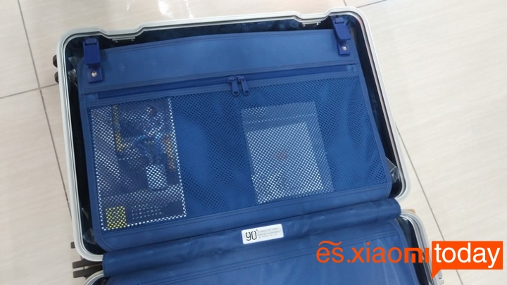 Xiaomi 20 inch Metal Travel Suitcase diseño parte interior