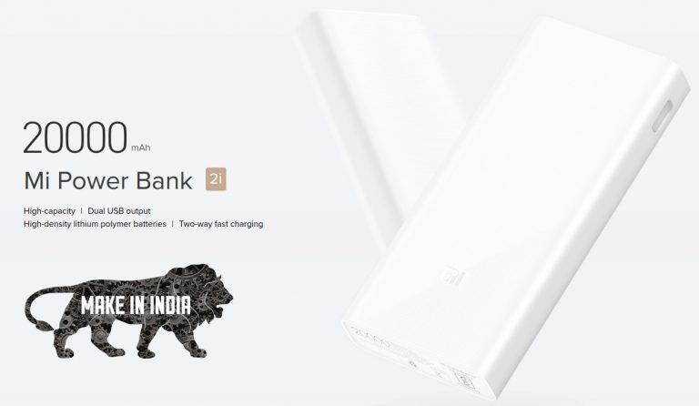 Xiaomi Power Bank Mi 2i Made in India
