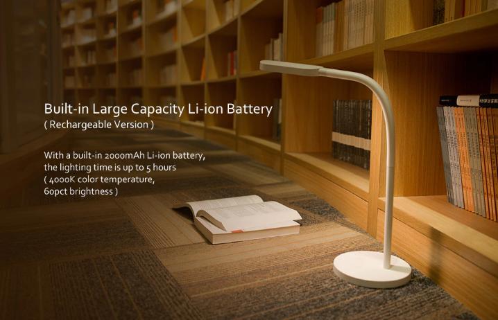 Lámpara de mesa inteligente Yeelight batería