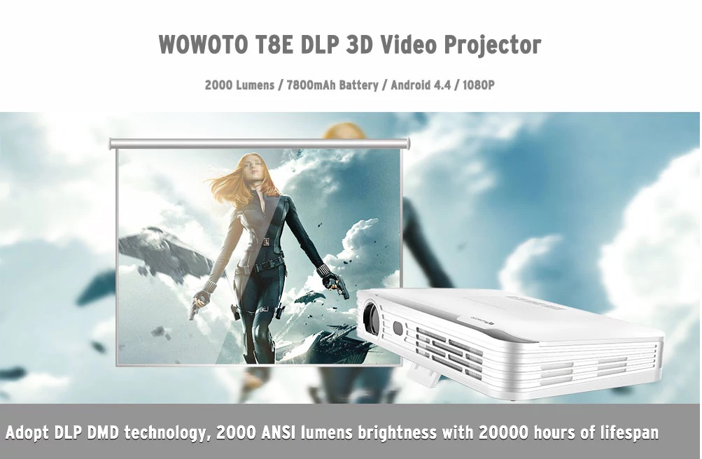Proyector de Video T8E de WOWOTO