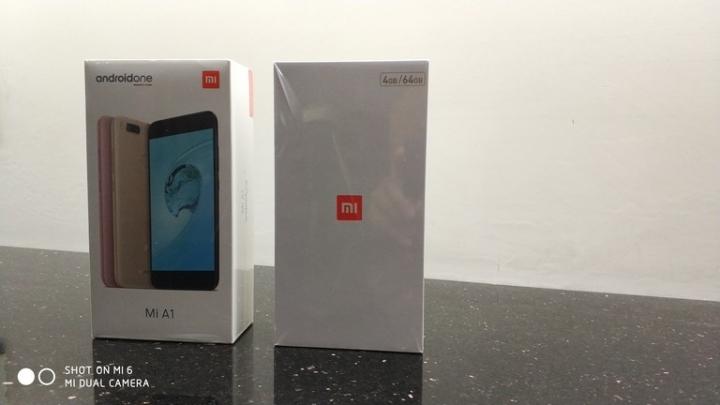 Xiaomi Mi A1 vs Xiaomi Mi 5X empaques