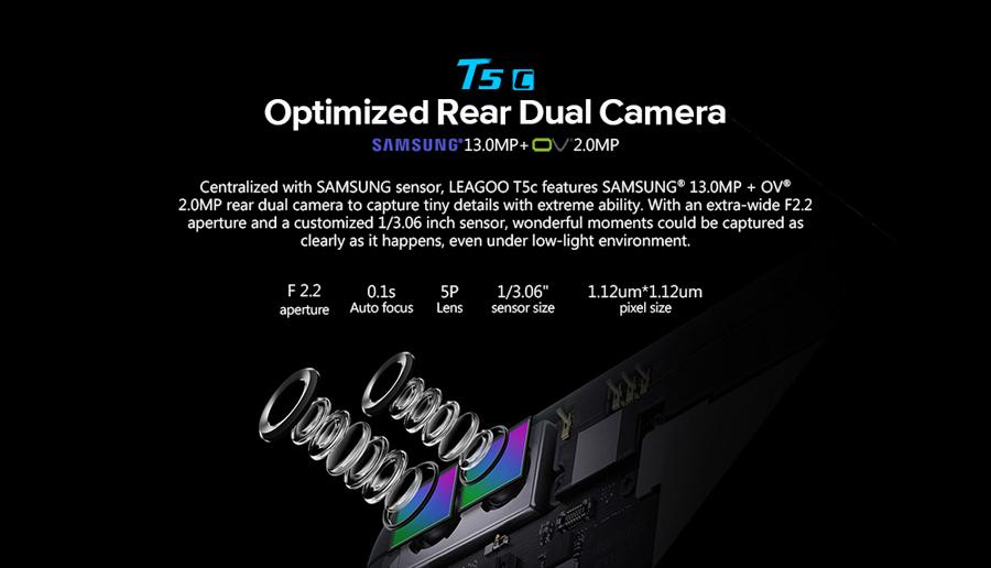 Leagoo T5C - cámaras