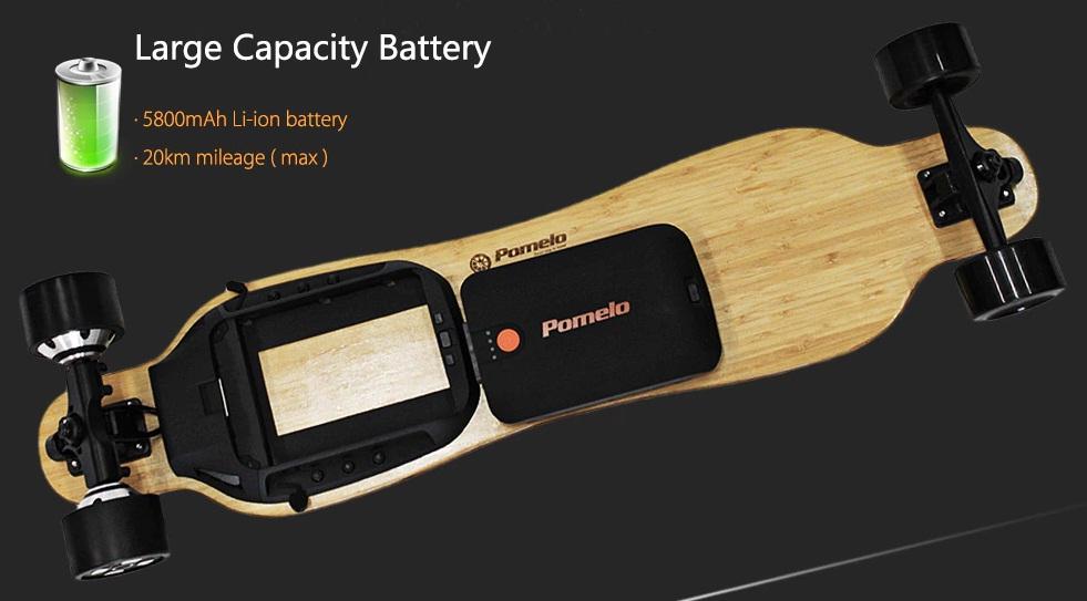 PomeIo P5 Electric Skateboard batería