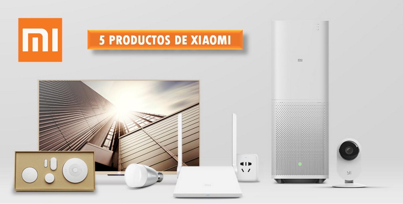 5 productos de Xiaomi