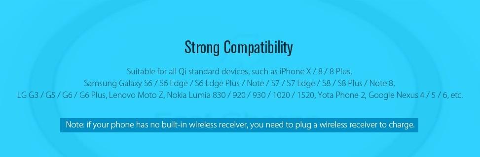 TOCHIC Qi compatibilidad