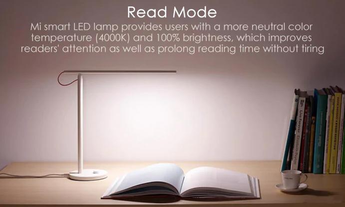 Xiaomi Mijia Smart LED Desk Lamp modo de lectura