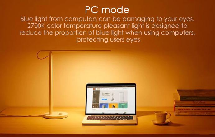 Xiaomi Mijia Smart LED Desk Lamp modo para computadoras