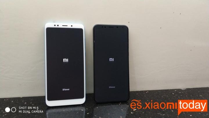 Xiaomi Redmi 5 Plus diseño parte frontal