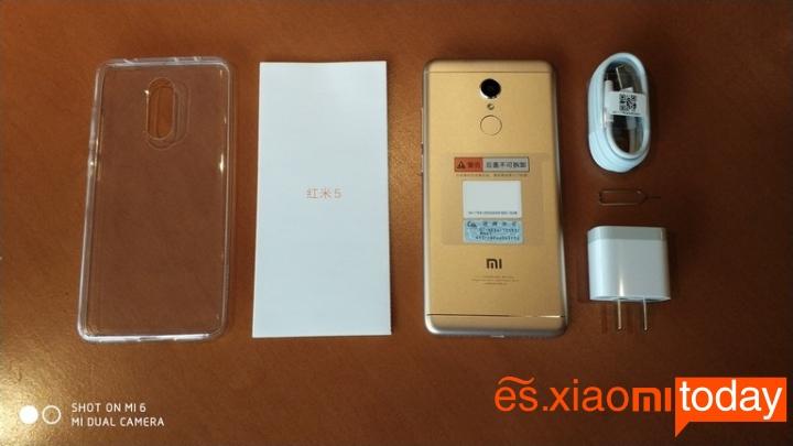 Xiaomi Redmi 5 caja contenido