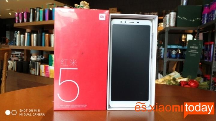 Xiaomi Redmi 5 caja terminal