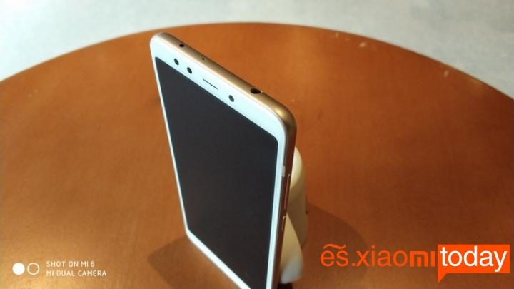 Xiaomi Redmi 5 diseño parte superior