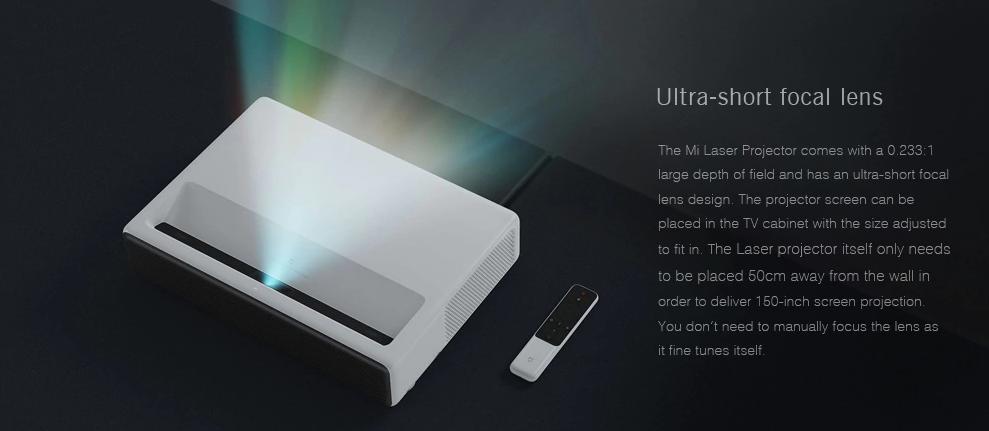 Xiaomi Mi Laser Projector lente focal