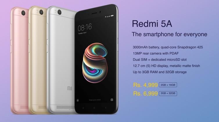 Xiaomi Redmi 5A precio