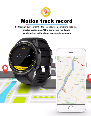 TenFifteen F1 Sports Smartwatch Phone GPS