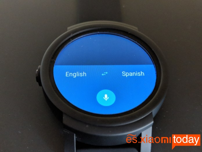 Ticwatch E - Traductor de Google