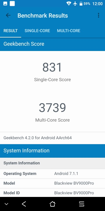 Blackview BV9000 Pro - Benchmarks