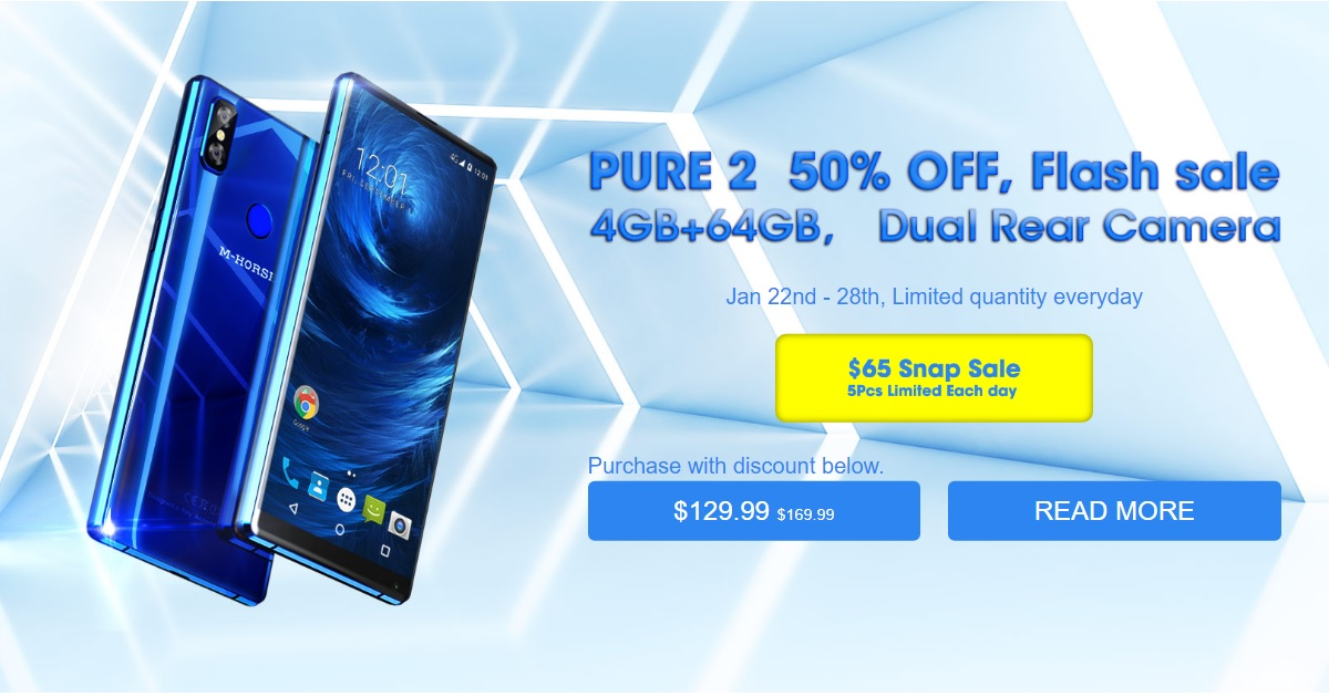 Promoción oferta flash limitada M-Horse Pure 2