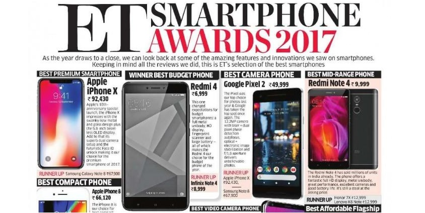 "Xiaomi premio ""lo mejor de 2017"" Economic Times"