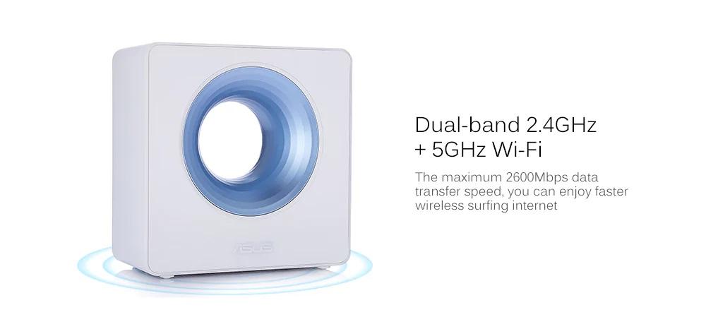 Router inalámbrico inteligente ASUS Blue Cave - Bandas