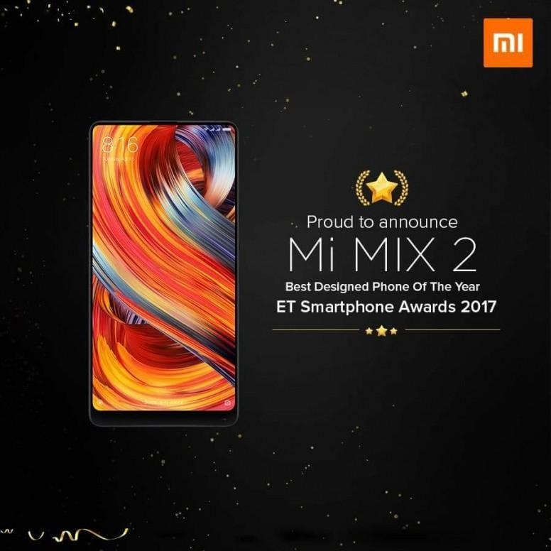 "Xiaomi India premio ""lo mejor de 2017"" Economic Times - Xiaomi Mi MIX 2"