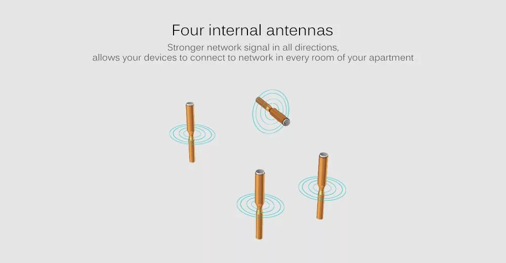 Router inalámbrico inteligente ASUS Blue Cave - Antenas