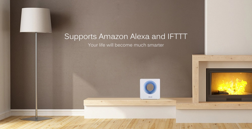 Router inalámbrico inteligente ASUS Blue Cave - Soporte con IA Alexa