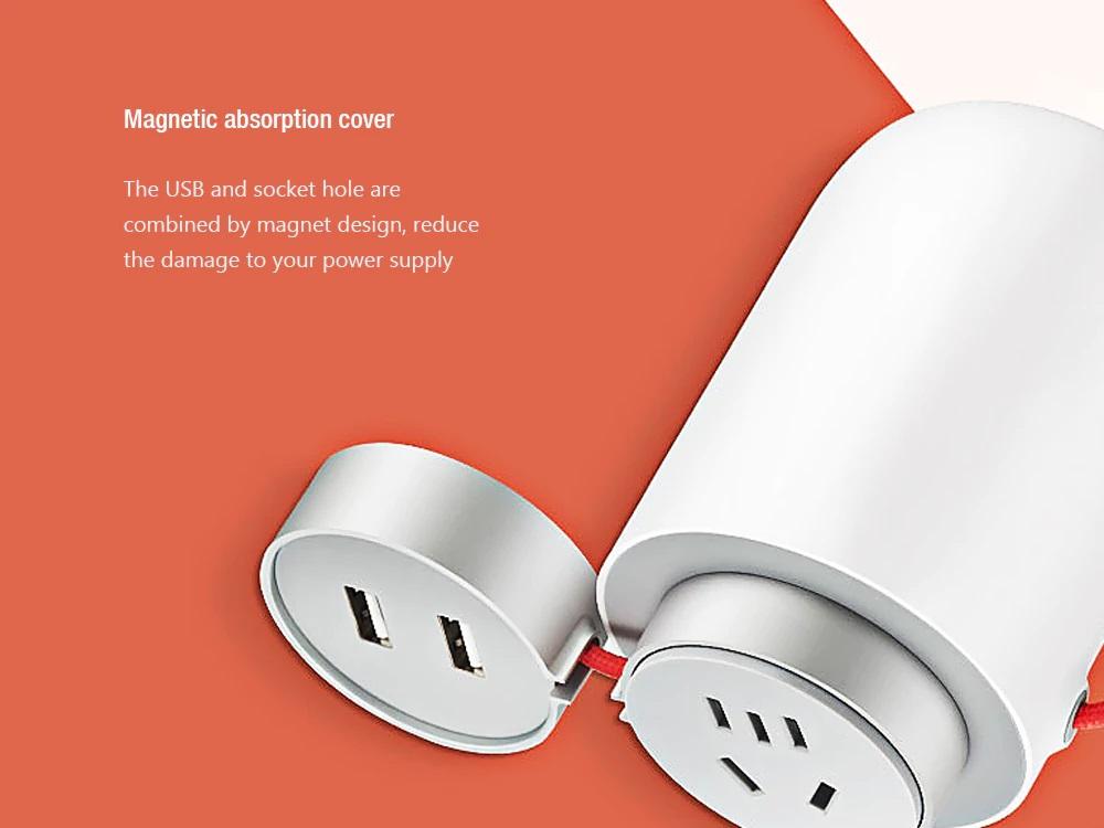 Xiaomi Mijia Power Inverter Car Socket - Cubierta de absorción magnéticas
