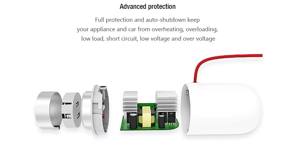 Xiaomi Mijia Power Inverter Car Socket - Protección avanzada