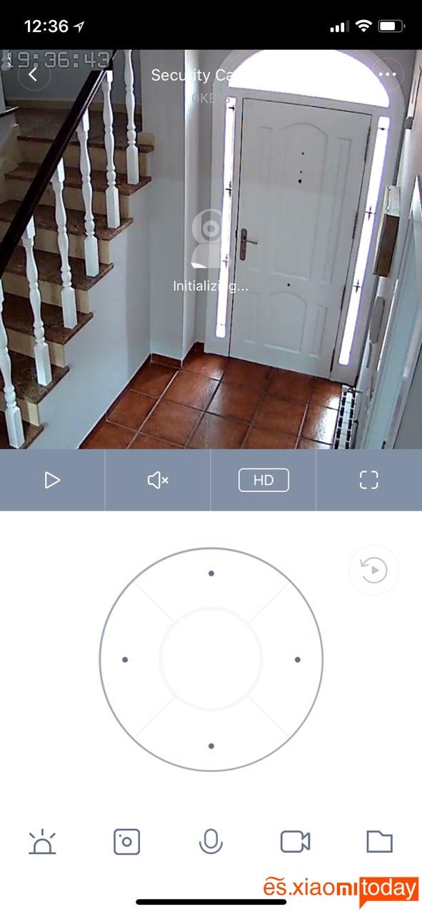 Cámara de vigilancia Xiaomi Mijia Pan Tilt 720P - Detección de movimiento