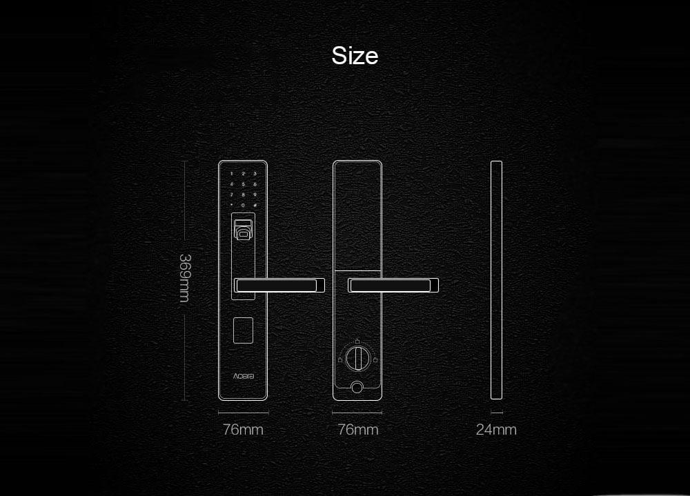 Xiaomi Aqara Smart Door Lock dimensiones