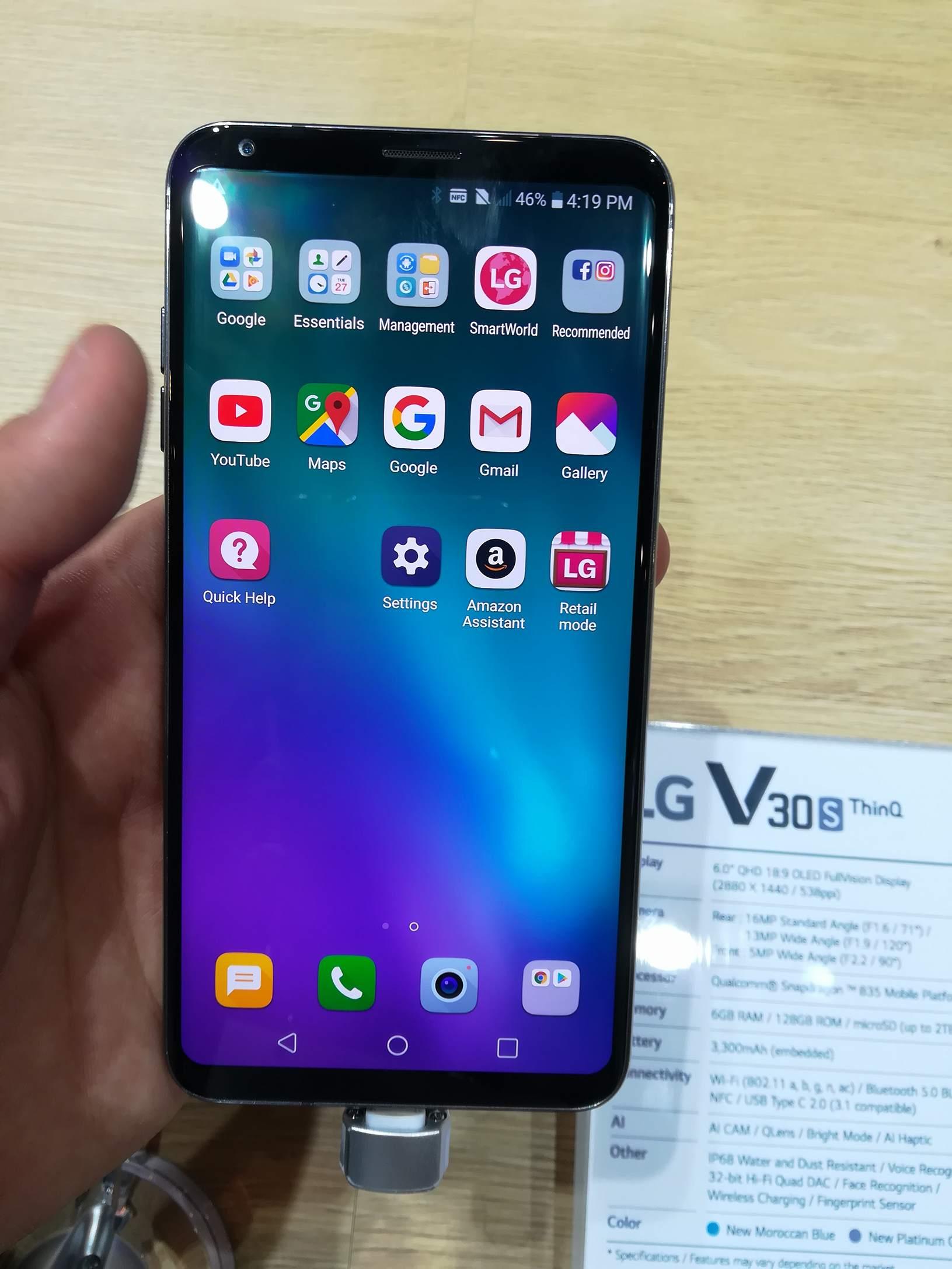 El LG V30S THINQ se deja ver en el MWC 2018 - La nueva apuesta de LG en telefonía e Inteligencia artificial