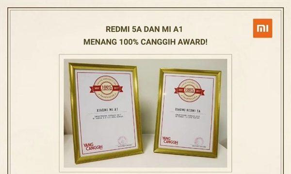Xiaomi Redmi 5A y Mi A1 ganan premio en Indonesia