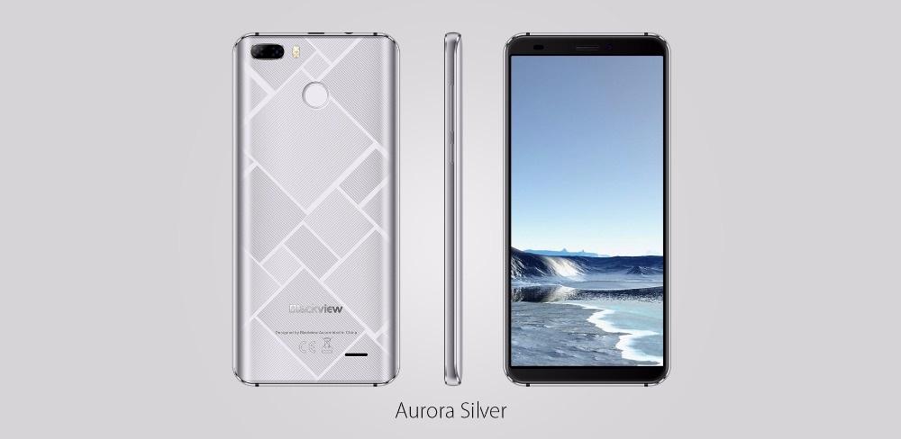 Blackview S6 - Diseño plateado