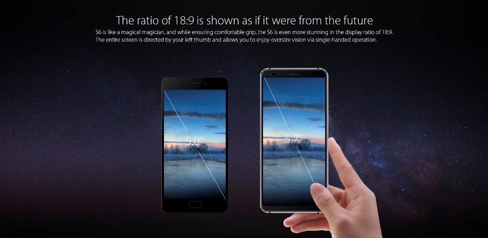 Blackview S6 - Relación de aspecto 18:9