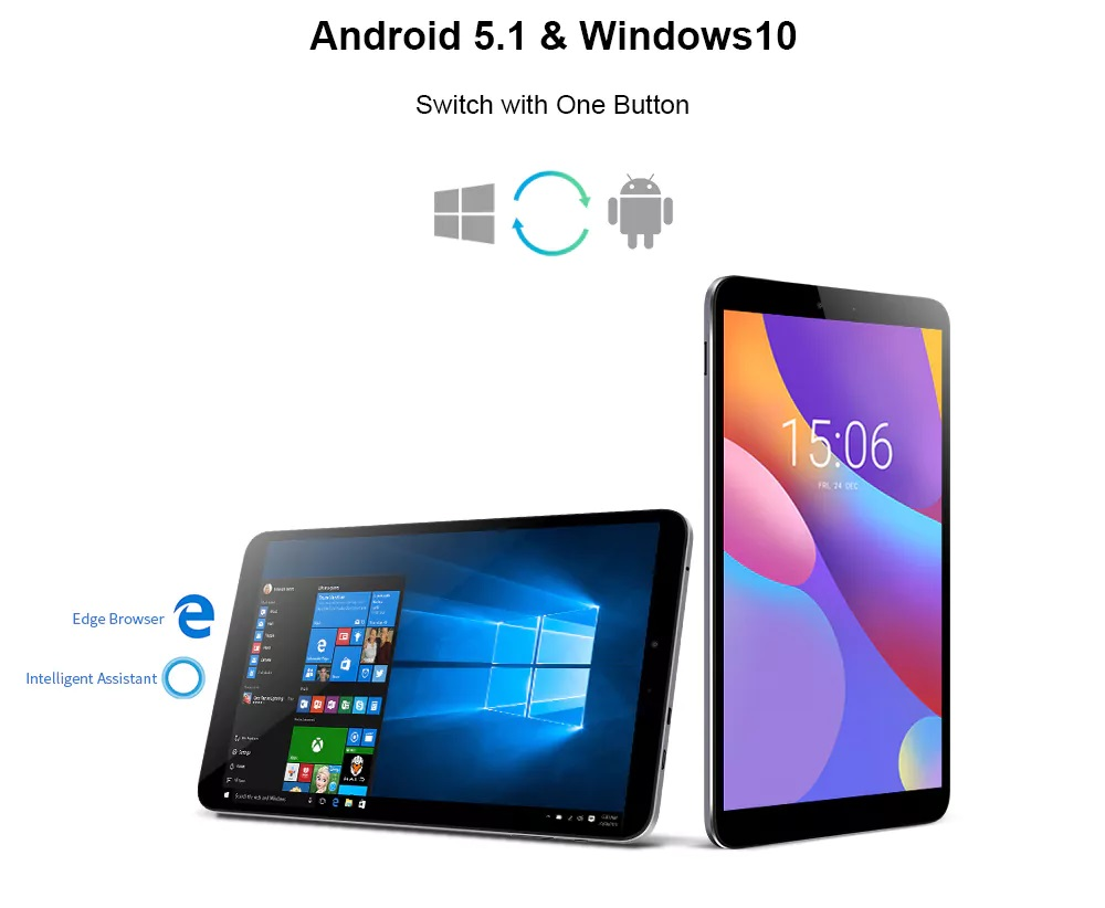 Chuwi Hi8 Air - Dual boot Android y Windows