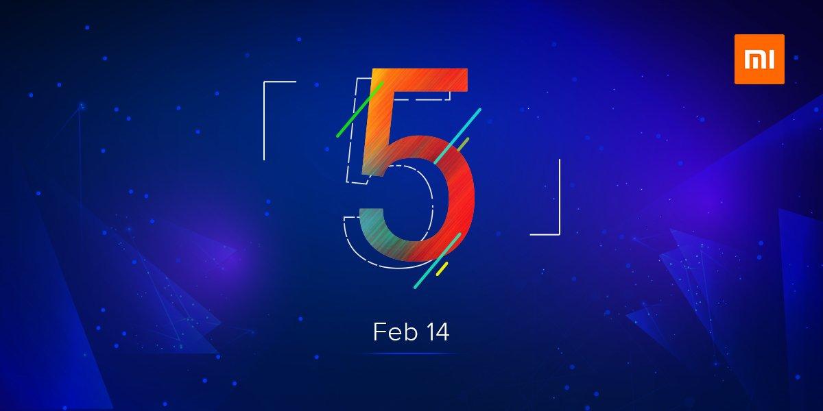 """El misterioso """"5"""" de Xiaomi será lanzado el 14 de febrero en India"""