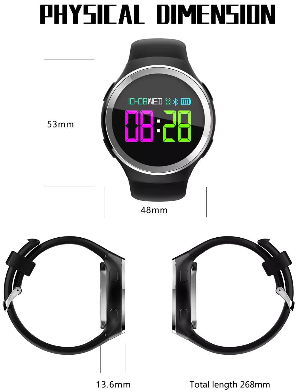 N69 Sports smart watch - Dimensiones