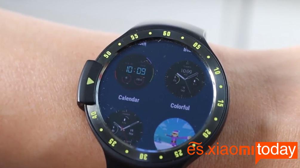 Ticwatch S pantalla estilos