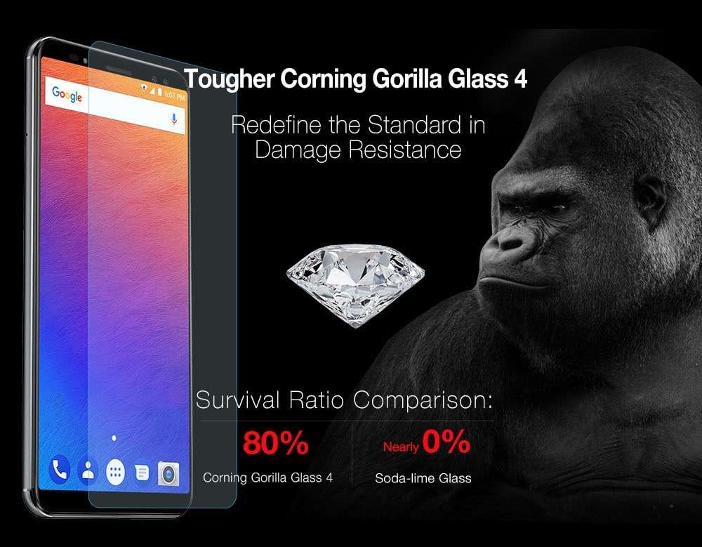 Ulefone Power 3S - Corning Gorilla Glass 4