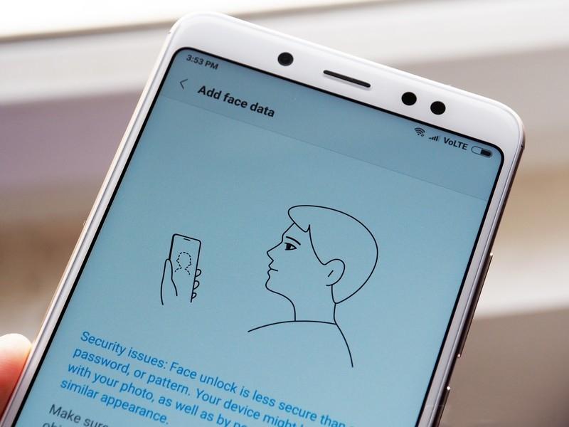 Reconocimiento facial del Xiaomi Redmi Note 5 Pro
