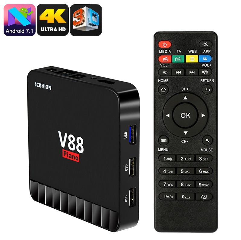 SCISHION V88 Piano - TV Box Android 7.1