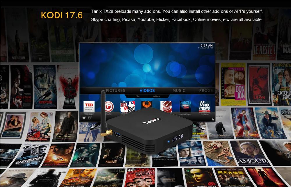 Tanix TX28 TV Box Aplicaciones