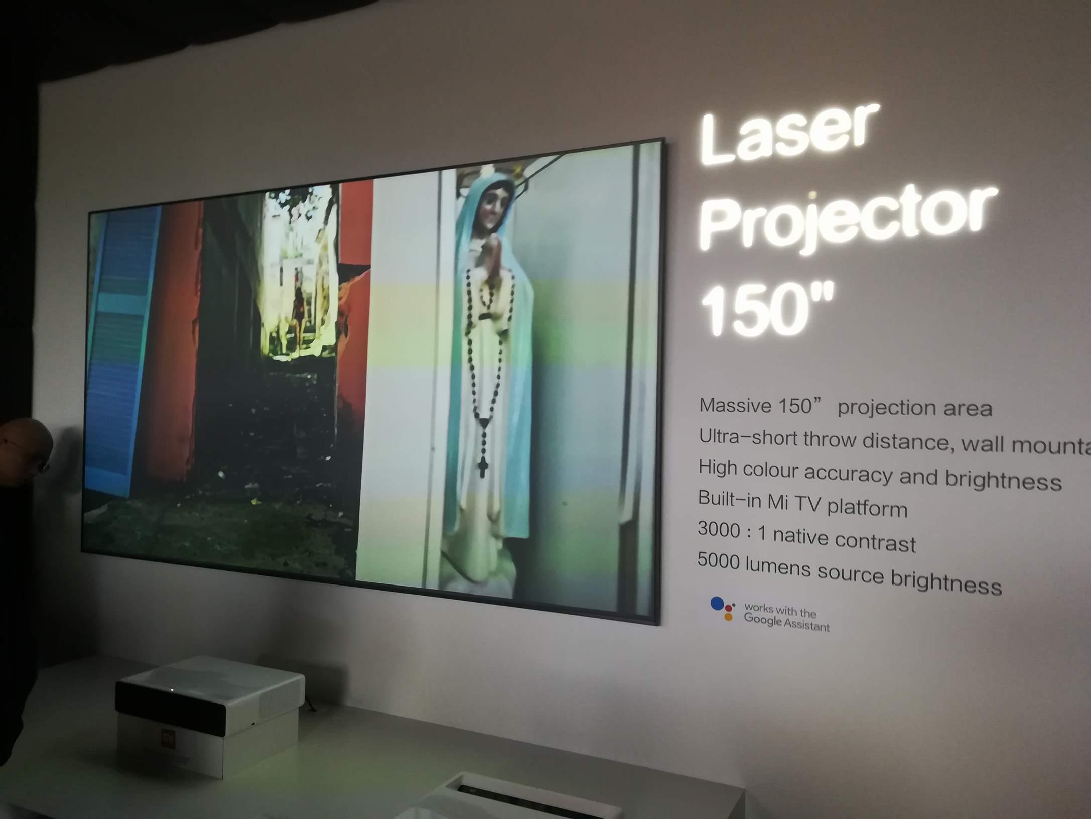Xiaomi MWC 2018 - Mi Laser Projector en acción